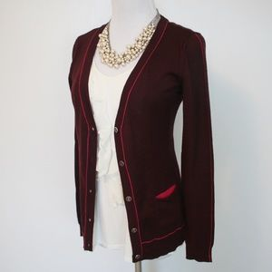 NEW YORK & CO Size XS Cardigan Sweater Burgundy